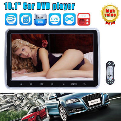 "10"" HD Digital LCD Screen Car Headrest Monitor DVD/USB/SD Player IR/FM HDMI Game"