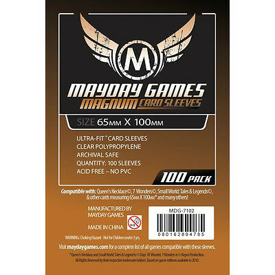 Mayday Games Magnum Card Sleeves 65x100mm (100 Pack)