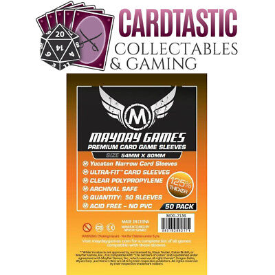 Mayday Games Premium Card Sleeves 54x80mm (50 Pack)