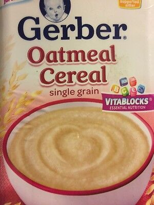 New Gerber Single-Grain Oatmeal Baby Cereal - 16 Ounce  Exp: 10/2017