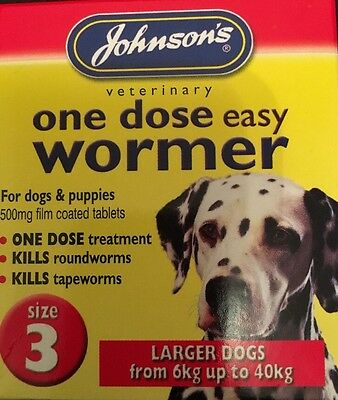 Johnson's One Dose Easy Wormer Size 3