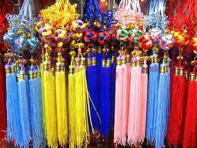 Wholesale 10PCS Chinese Lucky Chinese Knot Ball Bell Tassel Hang