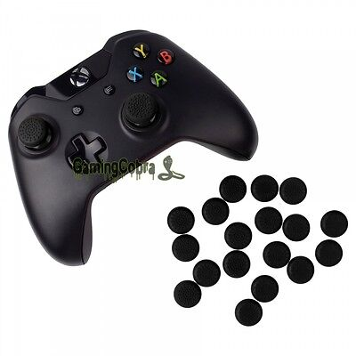 20X Silicone Rubber Black Joystick Thumb Stick Grip Cap for Xbox One Controller