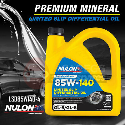 Nulon SAE 85W-140 Limited Slip Differential Oil 4L LSD85W140-4