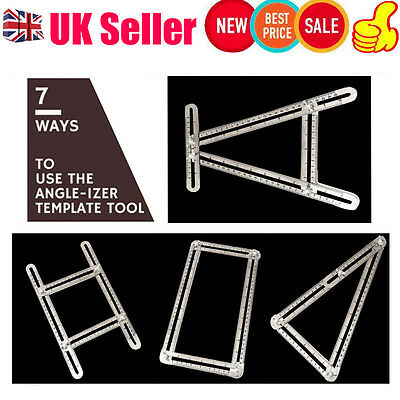 Angle-izer Multi-Angle Ruler Template Tool Stainless Steel Four-sided Tile Floor