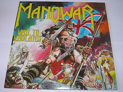 Manowar  - Hail To England LP  FULLY SIGNED in 1984 A1/B1 First Press SUPERB