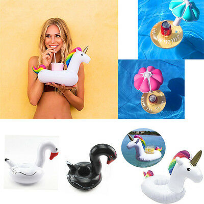 Swimming Drink Can Cup Holder Inflatable Floating Pool Bath Beach Summer