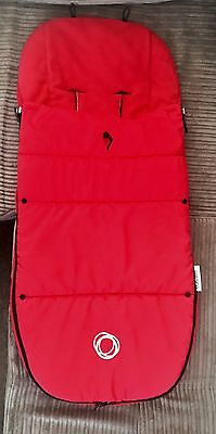 Bugaboo Universal Footmuff In Red- New Model With Velcro And Toggle VGC