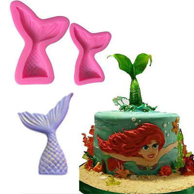 Fairy Mermaid Tail Scale Silicone Fondant Mould Cake Decor Sugarcraft Icing Mold