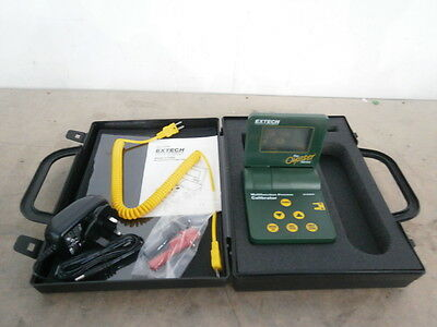 Extech 412400 Multifunction Process Calibrator + PSU & Case ** WORKING ** !