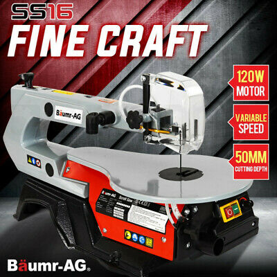 NEW BAUMR-AG Scroll Saw Variable Speed Fret Saw Woodwork Blades Adjustable Table
