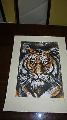 "Ronnie Wood ""tiger "" Pencil Signed Limited Edition Print !!"