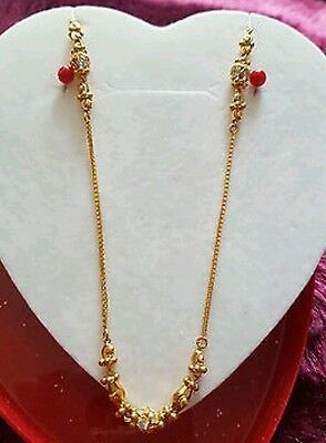 22ct Solid Indian Gold Necklace 8.6g