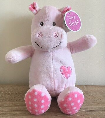 Tiny Hippo Card Factory Pink Plush Baby Cuddly Soft Toy Comforter With Tags