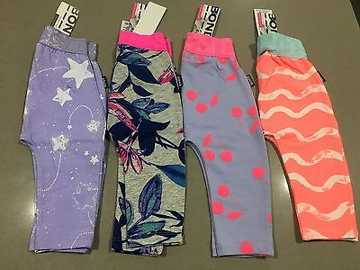 Bonds Baby Tights Stretchies Leggings 4 pack (GIRL CHERRY BIRD) BNWT Size 00