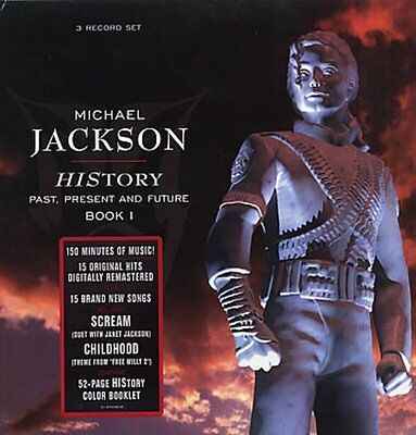 """Michael Jackson - History Book 1 Triple 12"""" Vinyl New & Sealed with 52 Page Book"""