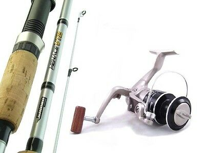 SAMBO MENACE 7' 10kg Carbon Fibre Spinning Fishing Rod and Reel Combo Trout Bass