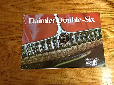 Daimler Double Six Sales Brochure From England