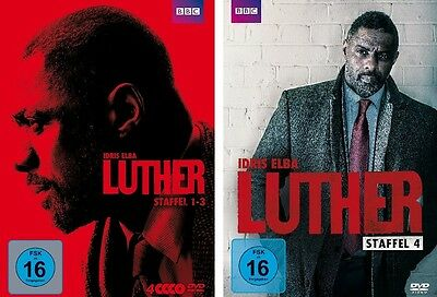 5 DVDs * LUTHER - SEASON / STAFFEL 1 - 4 ( BOX 1-3 + 4 ) IM SET # NEU OVP WVG