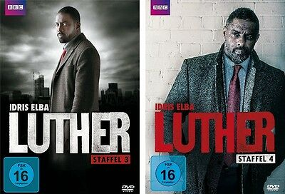 2 DVDs * LUTHER - SEASON / STAFFEL 3 + 4 IM SET - Idris Elba # NEU OVP WVG