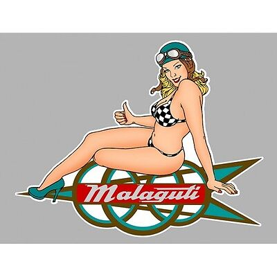 MALAGUTI left Pin Up gauche Sticker
