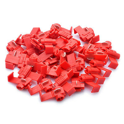 Quick Splice Scotch Lock Wire Connector Electrical Cable Joints- Red 40 Pieces