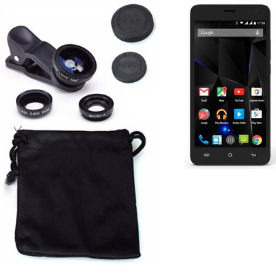Archos 50d Oxygen Camera Set Fish Eye Wide Angle Macro Lens auxiliary