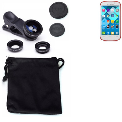 Alcatel One Touch Pop C3 Camera Set Fish Eye Wide Angle Macro Lens auxiliary