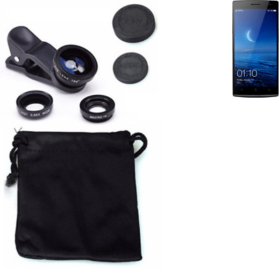 Oppo Find 7 Camera Set Fish Eye Wide Angle Macro Lens auxiliary
