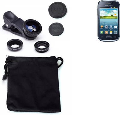 Samsung Galaxy Young Duos Camera Set Fish Eye Wide Angle Macro Lens auxiliary