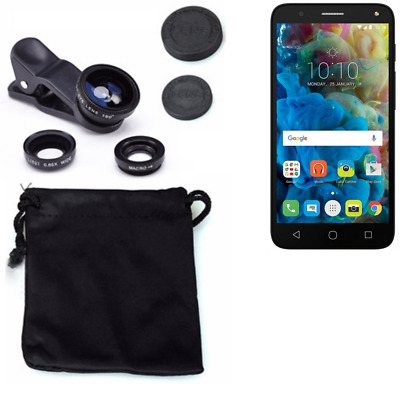 Alcatel One Touch Pop 4 Camera Set Fish Eye Wide Angle Macro Lens auxiliary