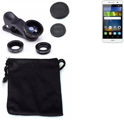 Huawei Y6Pro LTE Camera Set Fish Eye Wide Angle Macro Lens auxiliary