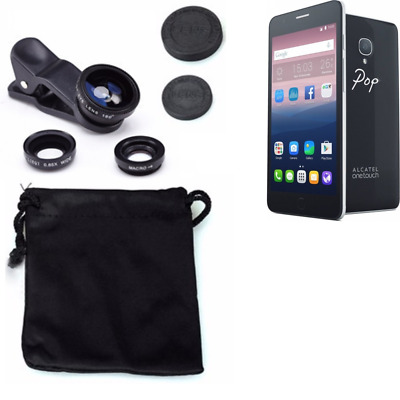 Alcatel One Touch Pop Up Camera Set Fish Eye Wide Angle Macro Lens auxiliary