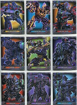 Transformers Optimum Complete Dark Of The Moon Foil Chase Card Set PF1-9