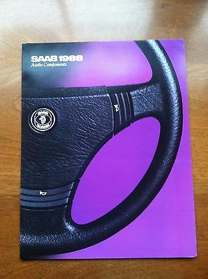 1988 Saab 900 & 9000 Audio Components Sales Brochure, Original Item