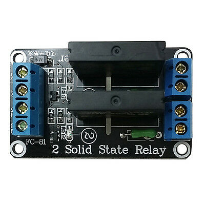 2 Channel 5V SSR Solid-State Relay High Level Trigger Perfect Arduino 240V 2A