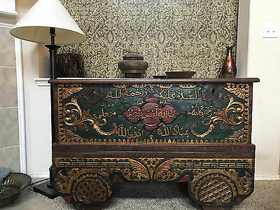 Large Islamic chest on wheels