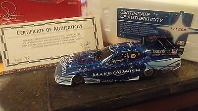 tommy johnson jr signed make a wish car 1/24 don schumacher racing nhra