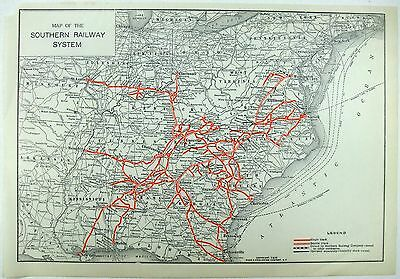 Original 1926 Map of the Southern Railway