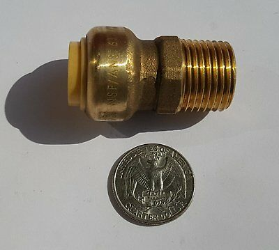 "5 Pieces 1/2"" Sharkbite Style Push Fit X 1/2"" Male Adapters Lead Free Brass"