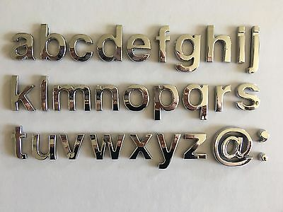 Small Chrome 3D Self-Adhesive Car Boot Letter Badge Emblem Sticker Home Auto