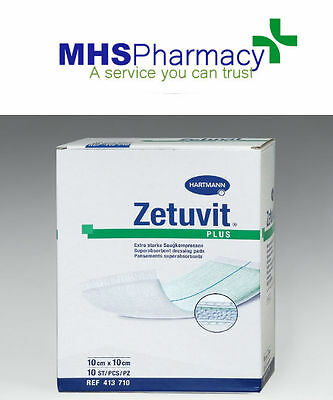 Hartmann Zetuvit Plus Dressing 10cm x 10cm pack of 5