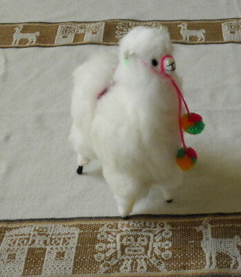New From Peru One Alpaca Llama Standing Position Figurine 8 Inches Tall #5248