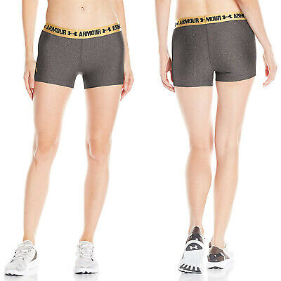 Under Armour Womens Heatgear Armour Shorty - New Ladies Compression Shorts Ua