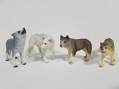 Schleich Lot 4 wolves howling wolf