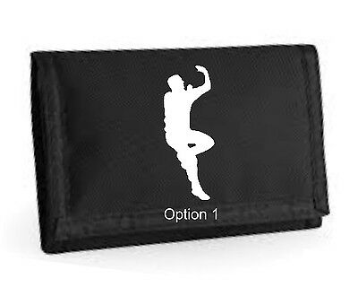 Cricketer's Mens Boys Wallet Tri Fold Travel Sports Gift