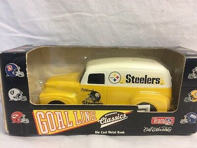 1995 PITTSBURGH STEELERS Football ERTL Goal Line Series DIE CAST Metal BANK