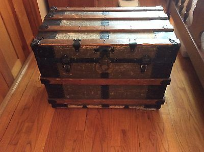 Vintage STEAMER TRUNK (Westcott Express Co. Tag) Use for Coffee Table, Storage
