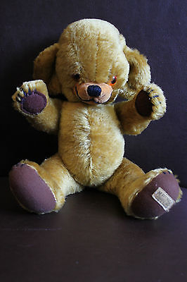 Vintage Mohair Jointed Merrythought Ironbridge Shrops Bell Ears Teddy Bear 13""