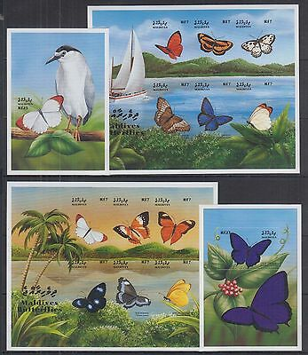 T Maldives - MNH - Nature - Butterflies - Birds - Boats - Imperf